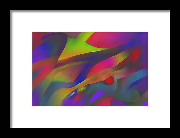 Colorful Framed Print featuring the digital art Flowing Energies by Peter Shor