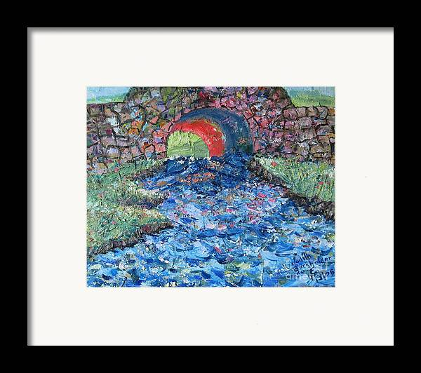 Landscape Framed Print featuring the painting Flowing On by Judith Espinoza
