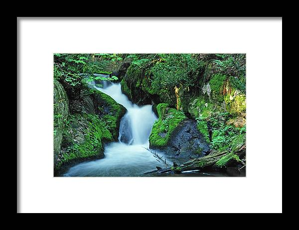 Silver Lead Creek Flows Softly Through A Michigan Hill Side Framed Print featuring the photograph Flowing Softly by Bill Morgenstern