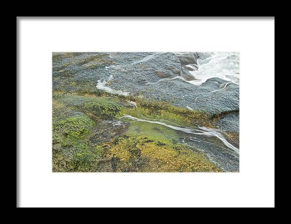Water Framed Print featuring the photograph Flowing Water by Michael Peychich