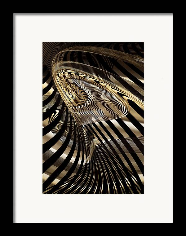 Abstract Framed Print featuring the digital art Fluid Matal by Gae Helton