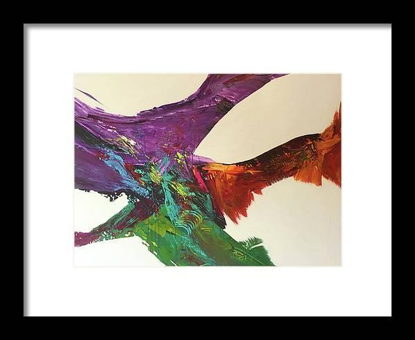 Fluid Abstract Painting John Cammarano Framed Print featuring the painting Fluid#1.2 by John Cammarano