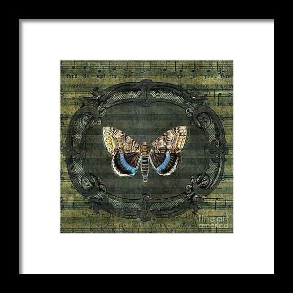 Framed Print featuring the digital art Flutter by Ramneek Narang