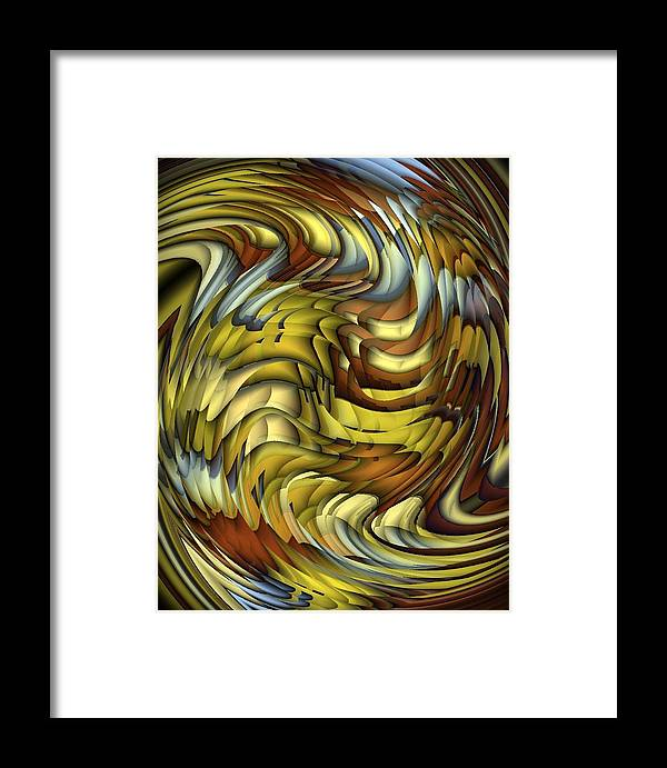 Abstract Framed Print featuring the digital art Flutter by Terry Mulligan