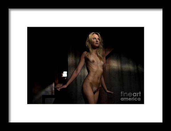 Sensual Framed Print featuring the photograph Fly Angel by Olivier De Rycke