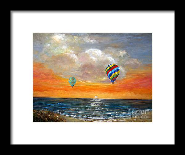 Landscape Framed Print featuring the painting Fly Away 22 by Jeannette Ulrich