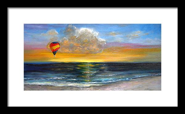 Landscape Framed Print featuring the painting Fly Away by Jeannette Ulrich