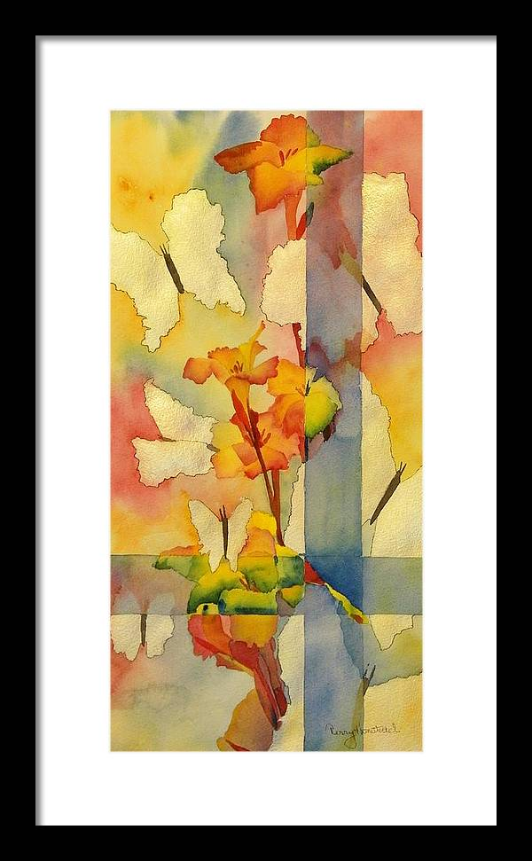 Abstract Framed Print featuring the painting Fly Away by Terry Honstead