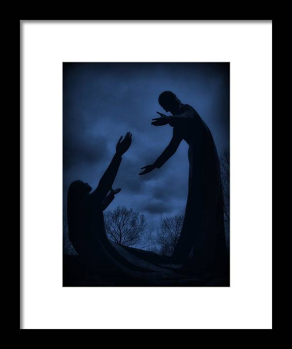 Blue Framed Print featuring the photograph Fly Away by Tingy Wende