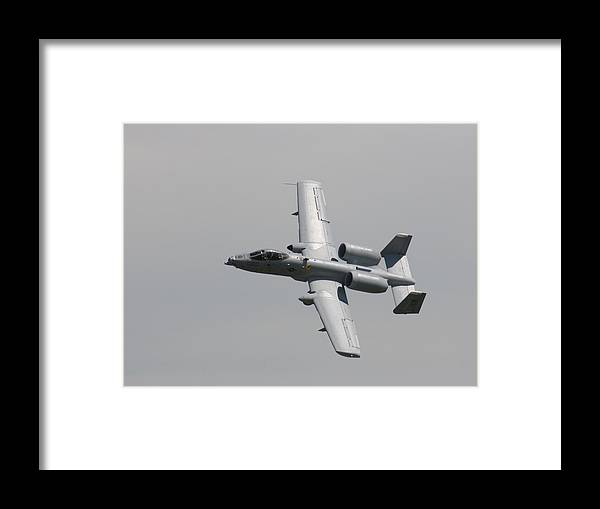 Airplane Framed Print featuring the photograph Fly By Wafb 09 A10 Thunderbolt 1 by David Dunham
