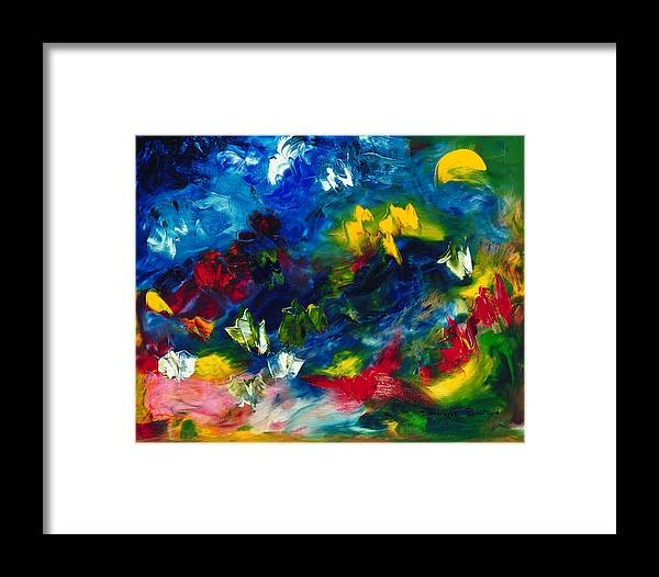 Abstract Framed Print featuring the painting Fly by Dominique Boutaud