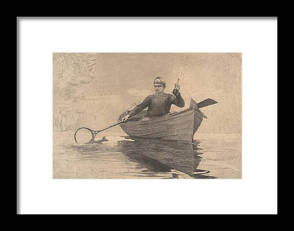 Winslow Homer Framed Print featuring the digital art Fly Fishing by Newwwman