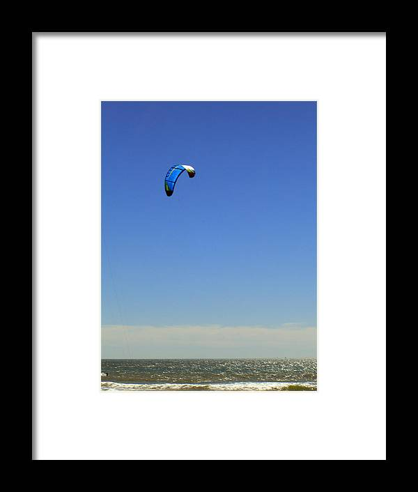 Seascape Framed Print featuring the photograph Fly In The Sky. by Robin Hernandez