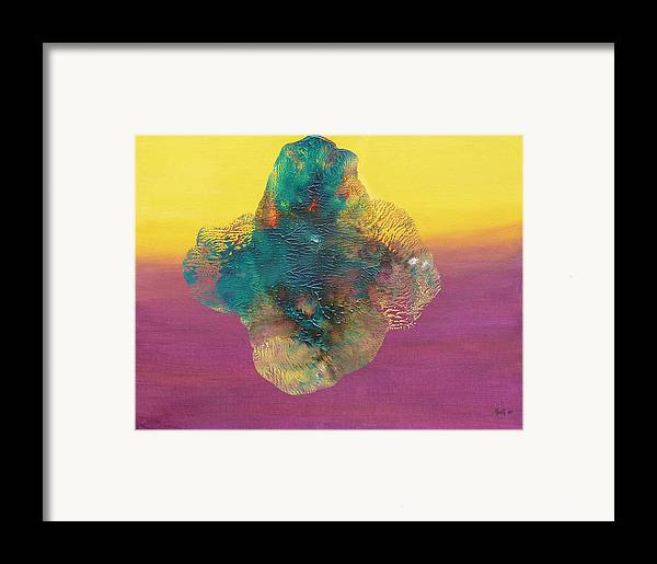 Symbolic Framed Print featuring the painting Fly Me by Greg Gierlowski