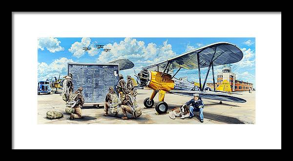 Naval Air Station Framed Print featuring the painting Flyers In The Heartland by Charles Taylor