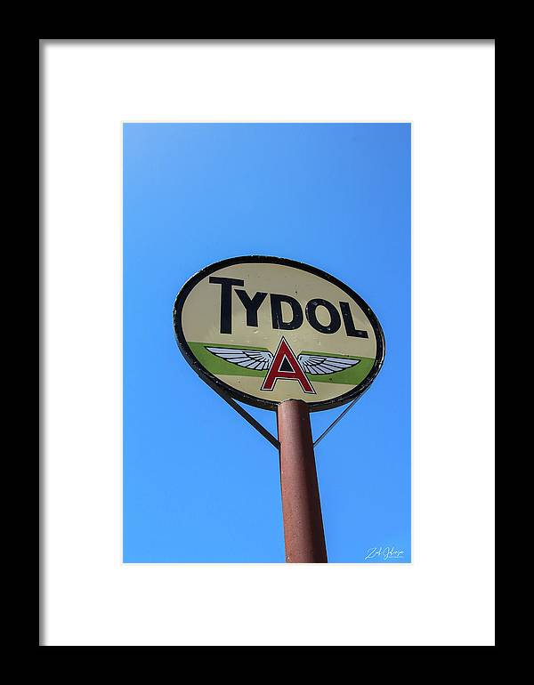 Tydol Framed Print featuring the photograph Flying A by Zach Johanson
