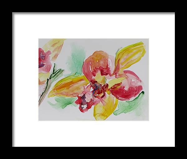 Floral Framed Print featuring the painting Flying Colors by Kathy Mitchell