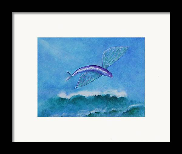 Fish Framed Print featuring the painting Flying Fish by Rf Hauver