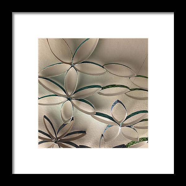 Floral Framed Print featuring the photograph Flying Flowers by Catherine Raillon
