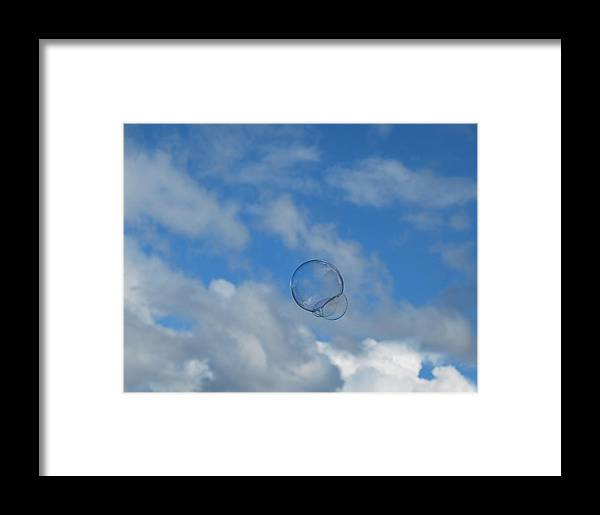 Bubbles Framed Print featuring the photograph Flying Free by Marilynne Bull
