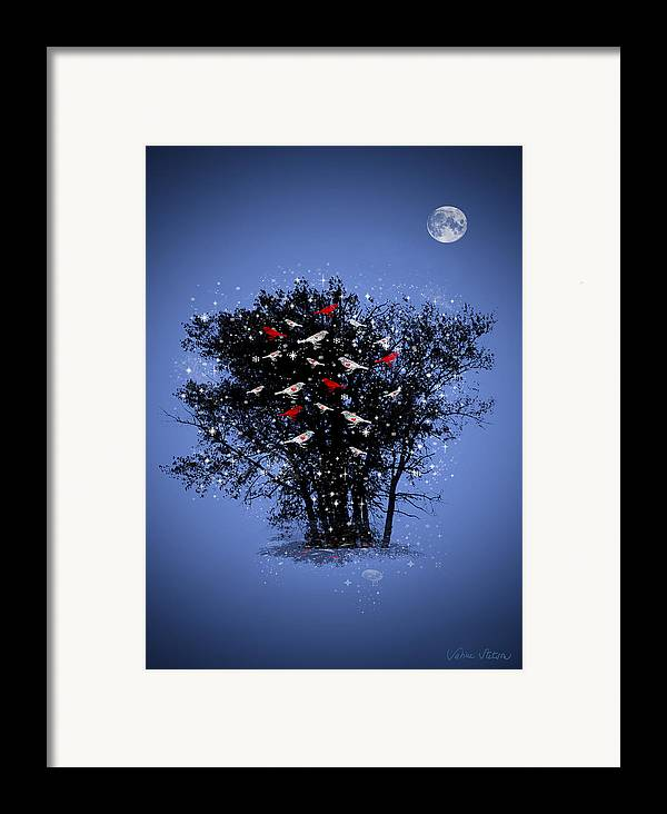 Hearts Framed Print featuring the digital art Flying Hearts by Sabine Stetson