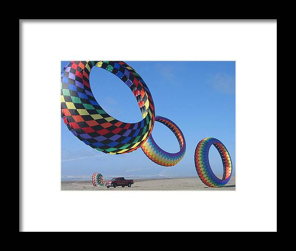 Framed Print featuring the digital art Flying High by Barb Morton