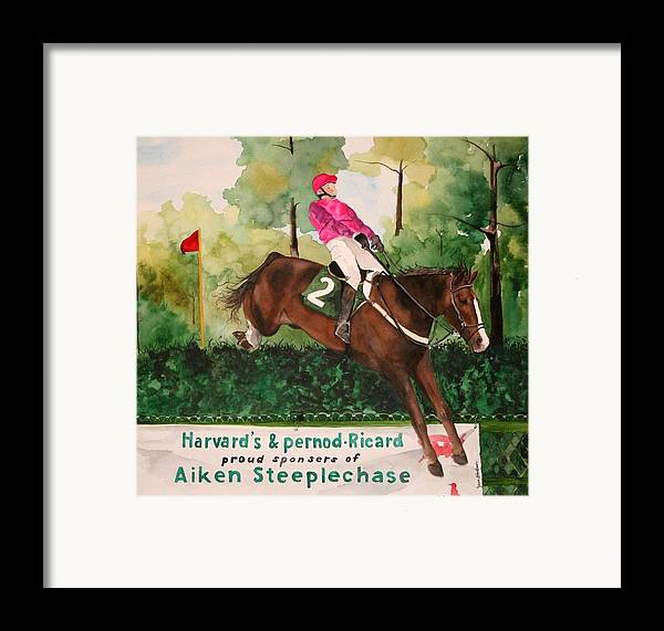Horse Framed Print featuring the painting Flying High by Jean Blackmer