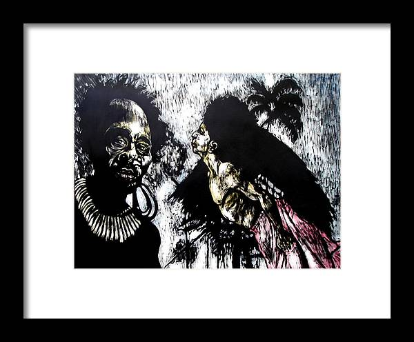 Flying Framed Print featuring the mixed media Flying Lessons by Chester Elmore