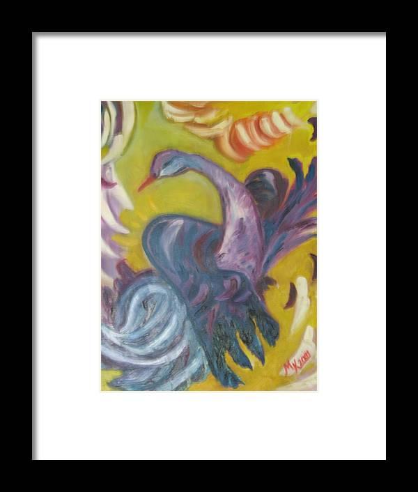 Maria Kolucheva Framed Print featuring the painting Flying by Maria Kolucheva