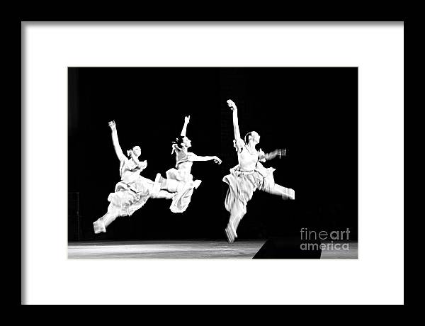 Ballet Dancer Framed Print featuring the photograph Flying Over... by Vadim Grabbe