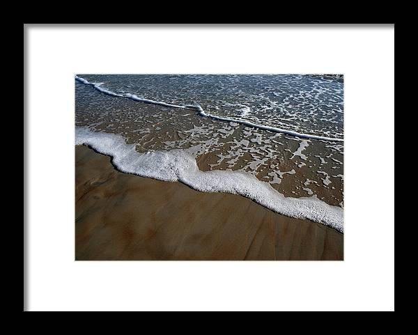 Beach Sand Wave Waves Foam Foamy White Sunny Clear Water Ocean Framed Print featuring the photograph Foamy Water by Andrei Shliakhau