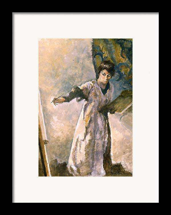 Painting Framed Print featuring the painting Focus by Ellen Dreibelbis