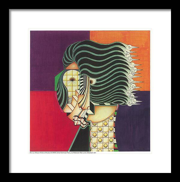 Figurtive Face Framed Print featuring the drawing Focus by Michael Deluca