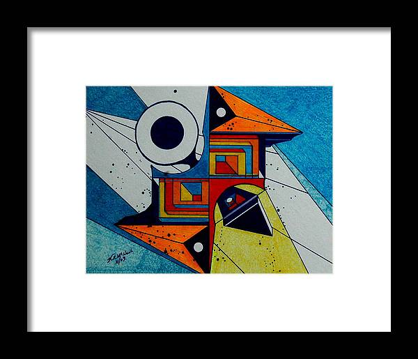 Dimensions Framed Print featuring the painting Focus by Willie McNeal