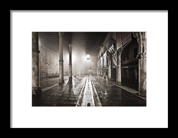 Venice Framed Print featuring the photograph Fog In The Market by Marco Missiaja