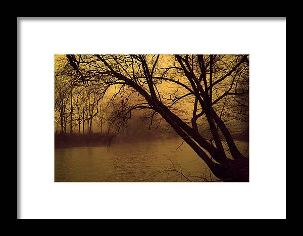 Landscape Framed Print featuring the photograph Fog In The Morning. by Itai Minovitz
