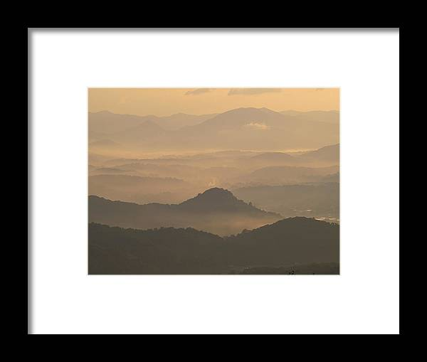 Lanndscape Framed Print featuring the photograph Fog In The Mountains by Itai Minovitz