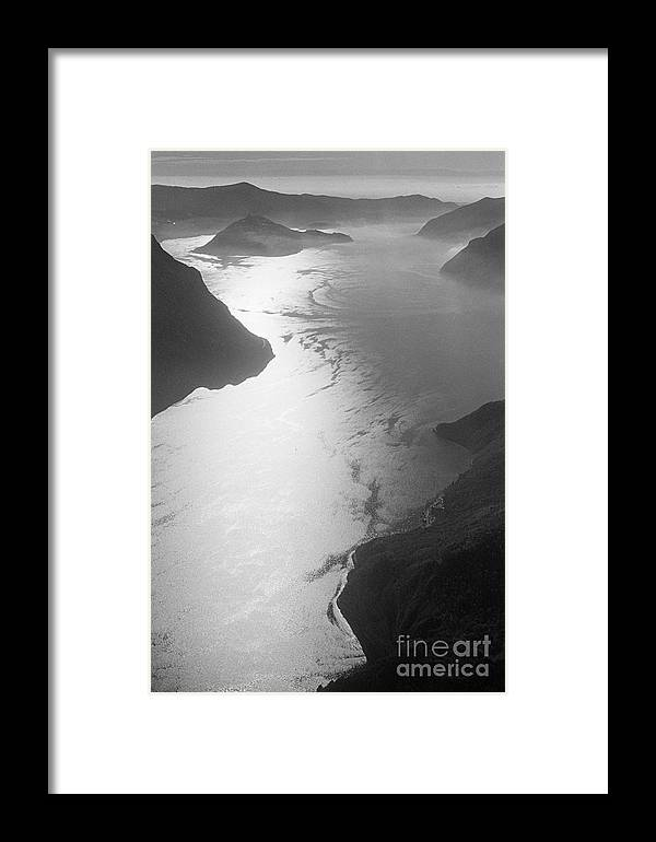 Iseo Framed Print featuring the photograph Fog Over The Iseo by Riccardo Mottola