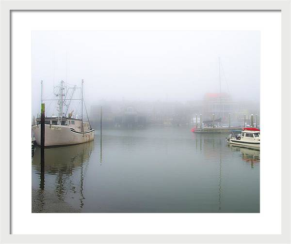 Foggy Cape May Harbor by Bill Cannon