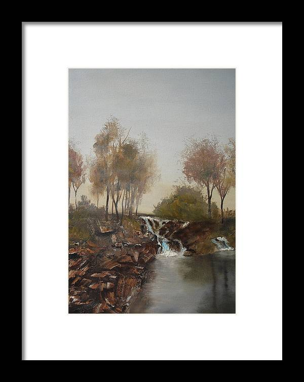 Landscape Framed Print featuring the painting Foggy Creek by James Eugene Moore