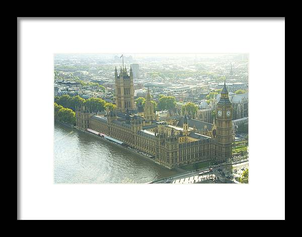Parliament Framed Print featuring the photograph Foggy Day In London Town by Charles Ridgway