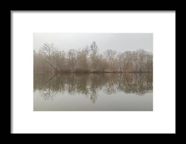 Lagoon Framed Print featuring the photograph Foggy Lagoon Reflection #5 by Dan Farmer