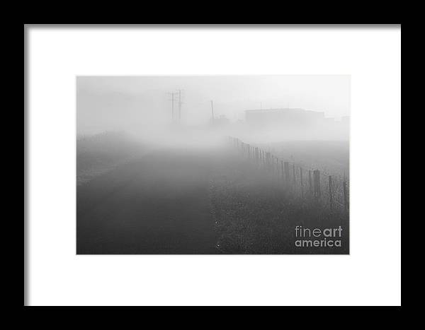 Foggy Framed Print featuring the photograph Foggy Morning At A Countryside by Hideaki Sakurai