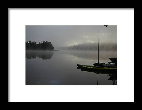 Landscape Framed Print featuring the photograph Foggy Morning by Dennis Curry