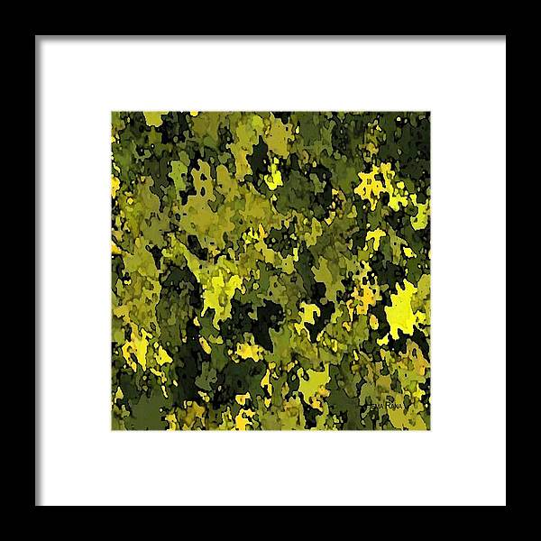 Foliage Framed Print featuring the digital art Foliage by Hema Rana