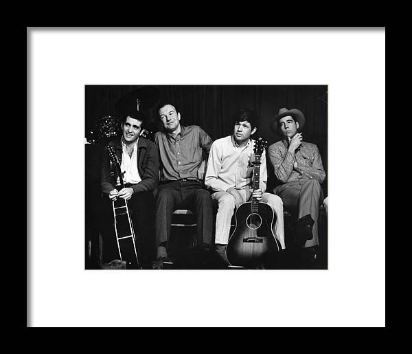 Erik Framed Print featuring the photograph Folk Singers 1964 by Erik Falkensteen