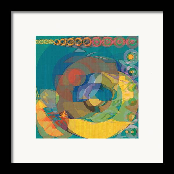 Abstract Framed Print featuring the digital art Follow The Sun by Gae Helton