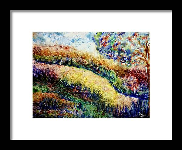 Landscape Framed Print featuring the painting Follow Your Dreams by Robin Monroe