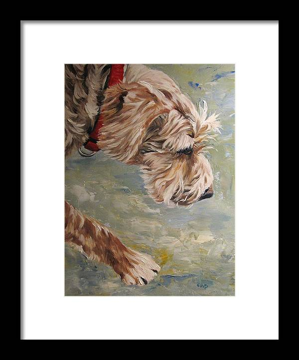 Dog Framed Print featuring the painting Follow Your Nose by Cheryl Pass