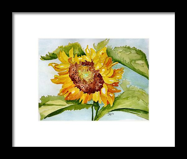Sunflower Framed Print featuring the painting Following The Sun by Ann Gordon